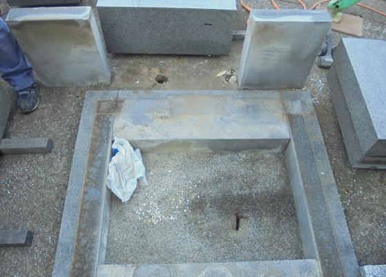 墓石の分解